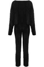 Cable Knit Wide Neck Jumper & Legging Co-Ord