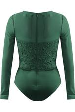 Scallop Lace Front Bodysuit