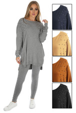Knitted Pearls Trim Loungewear - Mix Colours Pack