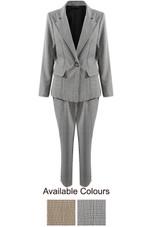 Glen Plaid Overlay Check Trouser & Blazer Suit - 2 Colours