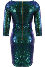Sequin Plunge Neck Mini Dress - 2 Colours