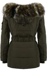 Faux Fur Hood Zipped Parka Jacket - 4 Colours