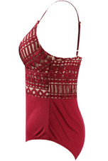 Scallop Lace Lined Cami Bodysuit