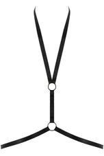 V Neck O Ring Harness in Black