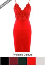Scallop Crochet Bodycon Dress - 5 Colours