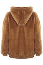 Faux Plush Fur Zipper Hoodie - 4 Colours