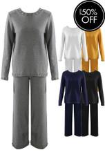 Diamante Trim Hopsack Loungewear - Mix Colours Pack
