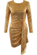 Sequin Open Back Ruched Dress - 4 Colours