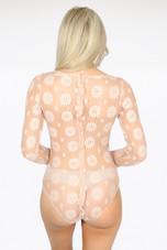 Sheer Mesh Floral Overlay Bodysuit - 3 Colours