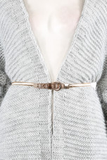 Metal Chain Waist Buckle Up Belt - 2 Colours