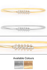 Metal Chain Round Crystal Buckle Belt - 2 Colours