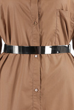 Wide Metal Webbing Buckle Belt - 2 Colours