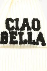 CIAO BELLA Fur Pom Knit Beanie
