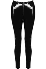 Vinyl PU Front Zip Up Pants