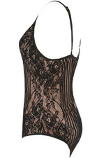 Lace Scallop Lined Bodysuit