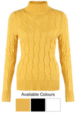 Knitted Polo Neck Jumpers