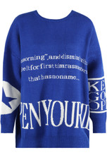 Slogan Printed Oversize Jumpers