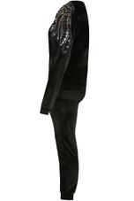Velvet Sequin Shoulders Trim Loungewear