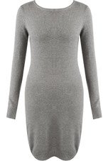 Roll Neck Overlay Knitted Jumper Dress