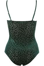 Leopard Print Velvet  Bodysuit
