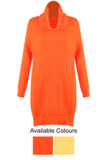 Neon Cable Knit Jumper Dress