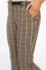 Check Belted Trousers (Pre - Orders)