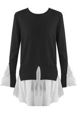 Pleated Tier Hem Knitted Jumper - Mixed Colour Pack