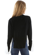 Mock Neck Tier Hem Jumpers - Mixed Colours Pack