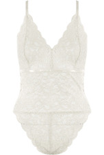 Lace Intricate Ring Back Bodysuit