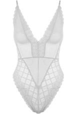 Mesh Lace Trim Bodysuit