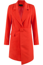 Longline Blazer With Asymmetric Hem - 3 colours