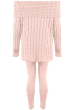 Knitted Off The Shoulder Loungewear