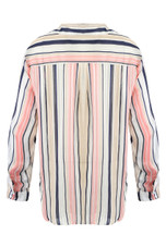 Metallic Stripes Button Up Shirt