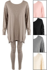 Pearls Trim Loungewear Set - Mixed Pack