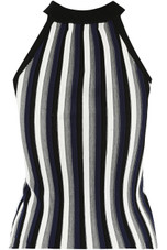 Halter Neck Stripes Tops