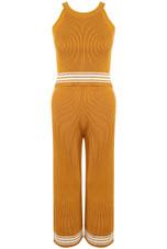Knitted Halter Neck Top Loungewear Set