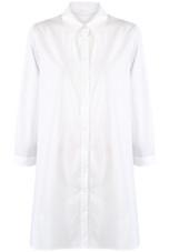 White Oversize Shirt Dress