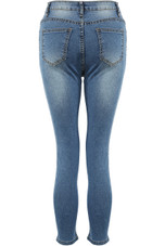 Cropped Washed Denim Jeans