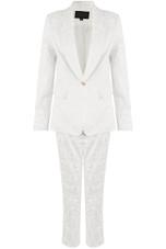 Floral Textured Blazer & Trousers Suit