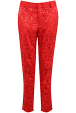 Floral Textured Tailored Trousers