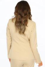 Pinstripe Asymmetric Button Blazer - 3 colours