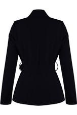 Asymmetric Belted Blazer
