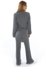 Knitted Tie Up Loungewear Set