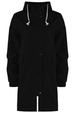 High Neck Hooded Rain Mac