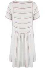 Stripes Pleated Shift Dress
