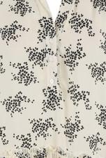 Floral Pleated Waist Shift Dress