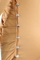 Slinky Wrap Over Bodycon Dress