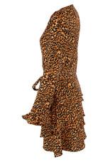 Printed Tie Up Tier Hem Dress