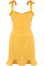 Pinafore Dress With Frill Hem - 4 Colours