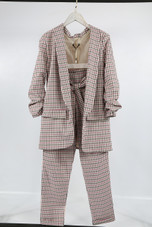 Check Ruched Blazer & Trouser Co-Ord - 3 Colours